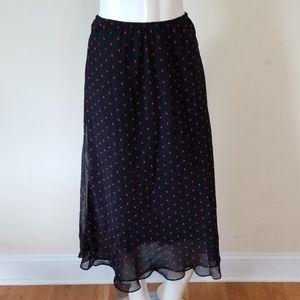 Dresses & Skirts - 🌹3/$24🌹SHEER LINED POLKA DOT MIDI SKIRT